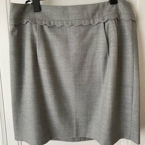 J.Crew Grey Skirt with Scallop Detail